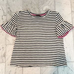 W5 Flutter Sleeve Striped Shirt - Size Small